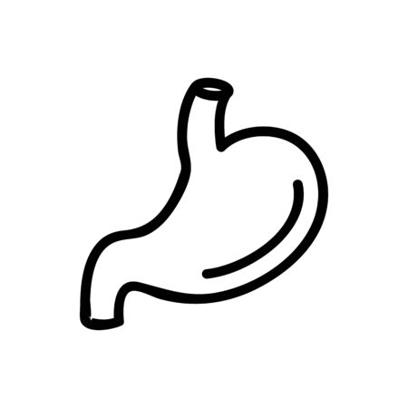 stomach icon vector. Thin line sign. Isolated contour symbol illustration