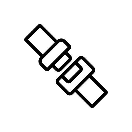 Seat belt icon vector. Thin line sign. Isolated contour symbol illustration 向量圖像