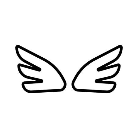 Wings of the angel icon vector. Thin line sign. Isolated contour symbol illustration Stock Illustratie
