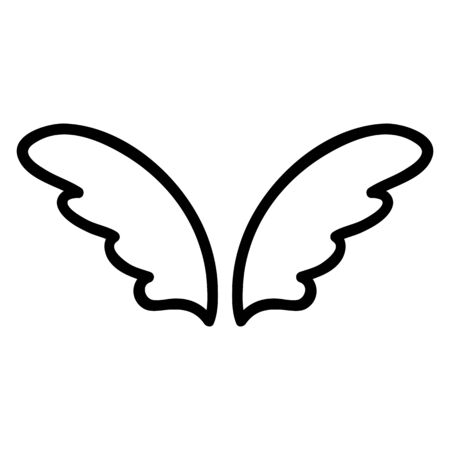 Wings of the angel icon vector. Thin line sign. Isolated contour symbol illustration Иллюстрация
