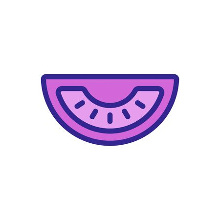 tomato icon Thin line sign. Isolated contour symbol illustration Banque d'images - 141596047