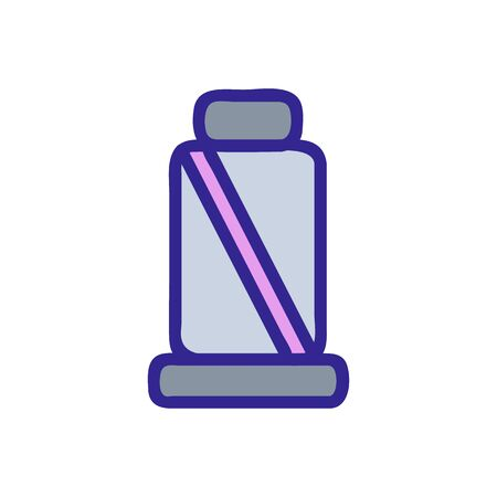 Seat belt icon vector. Thin line sign. Isolated contour symbol illustration 向量圖像