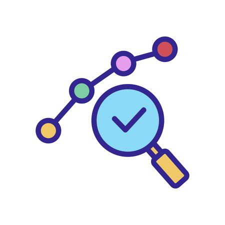 audit service icon vector. Thin line sign. Isolated contour symbol illustration