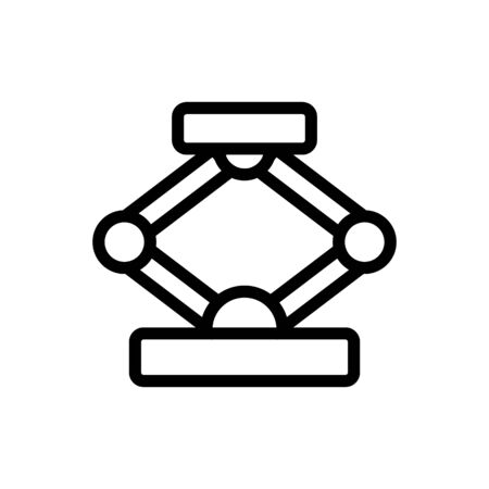 Mechanical jack icon vector. Thin line sign. Isolated contour symbol illustration