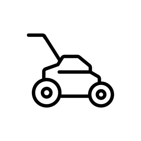 lawnmower icon vector. Thin line sign. Isolated contour symbol illustration