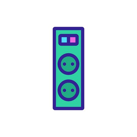 Electric socket connector icon vector. Thin line sign. Isolated contour symbol illustration Stock Illustratie