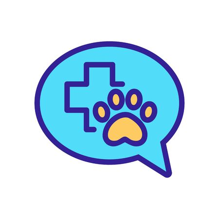 pet clinic Icon vector. Thin line sign. Isolated contour symbol illustration