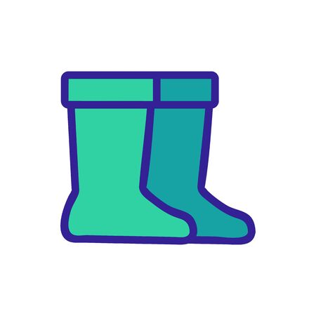 Rubber Boots icon vector. Thin line sign. Isolated contour symbol illustration Vetores
