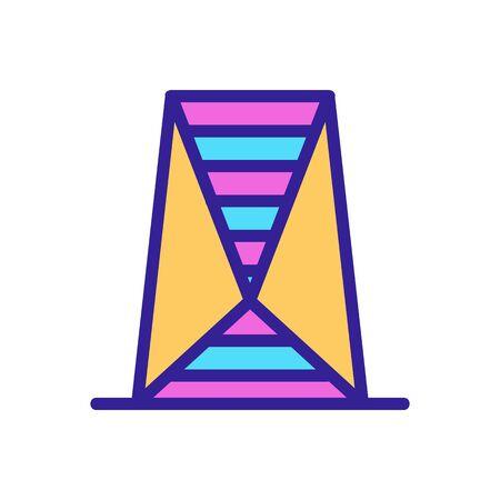 Futuristic city icon vector. Thin line sign. Isolated contour symbol illustration Stock Illustratie