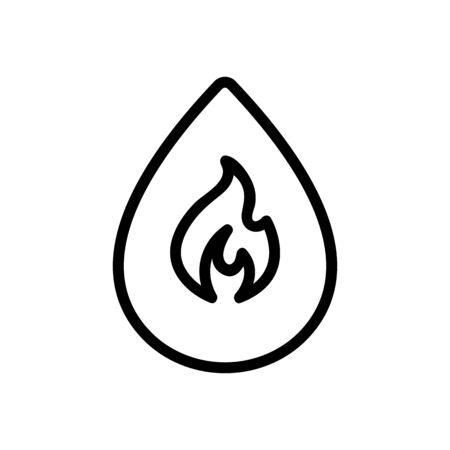 Spice icon vector. Thin line sign. Isolated contour symbol illustration