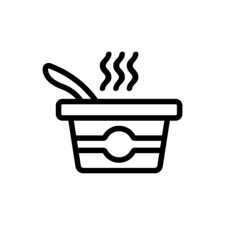 Delicious vector icon soup. Thin line sign. Isolated contour symbol illustration
