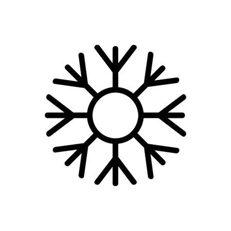 Snowflake icon vector. Thin line sign. Isolated contour symbol illustration Illusztráció