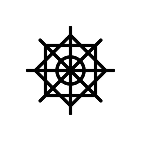 Beautiful snowflake icon vector. Thin line sign. Isolated contour symbol illustration