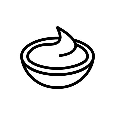 Sauce icon vector. Thin line sign. Isolated contour symbol illustration