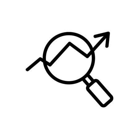 Progress icon vector. Thin line sign. Isolated contour symbol illustration Vecteurs