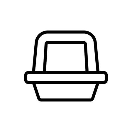 pet litter Icon vector. Thin line sign. Isolated contour symbol illustration Vektorgrafik