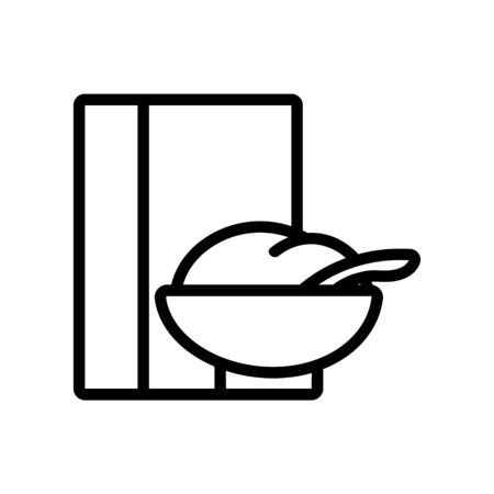 breakfast cereal icon vector. Thin line sign. Isolated contour symbol illustration