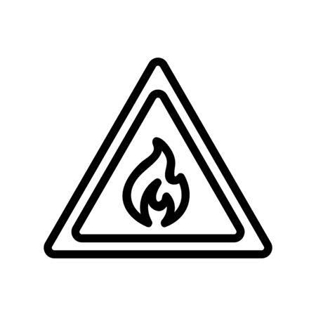 propane gas icon vector. Thin line sign. Isolated contour symbol illustration Vettoriali