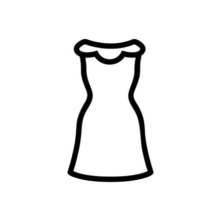 Beautiful icon vector dress. Thin line sign. Isolated contour symbol illustration