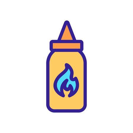 Spice icon vector. Thin line sign. Isolated contour symbol illustration Banco de Imagens - 142986887
