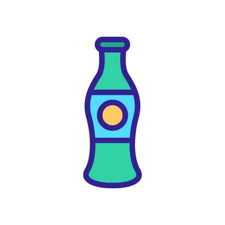 fizzy drink icon vector. Thin line sign. Isolated contour symbol illustration Illustration