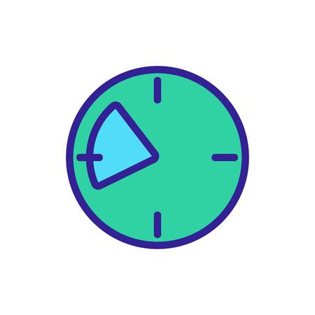 morning icon vector. Thin line sign. Isolated contour symbol illustration Ilustracje wektorowe