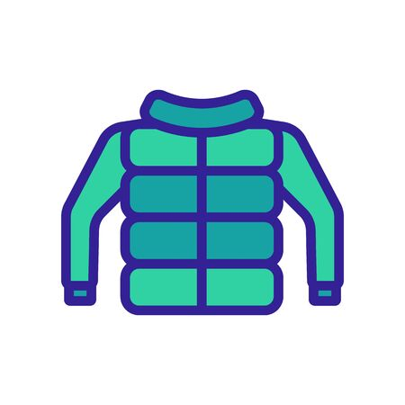 Winter jacket icon vector. Thin line sign. Isolated contour symbol illustration
