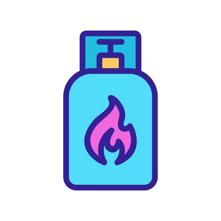 gas beam icon vector. Thin line sign. Isolated contour symbol illustration