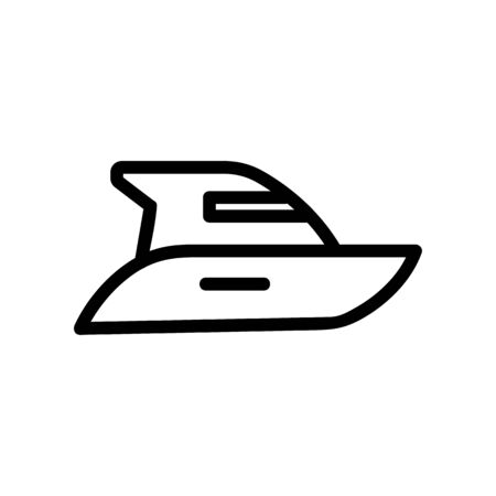 Modern yacht icon vector. Thin line sign. Isolated contour symbol illustration