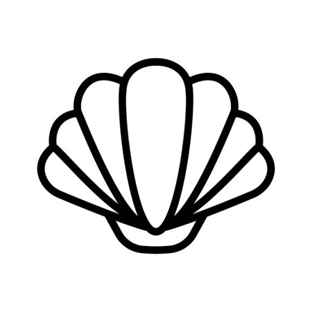 shell icon vector. Thin line sign. Isolated contour symbol illustration
