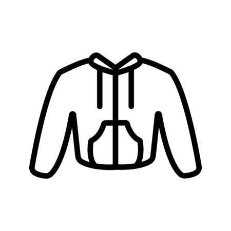 sweater icon vector. Thin line sign. Isolated contour symbol illustration
