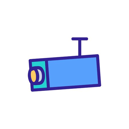 Camera cctv icon vector. Thin line sign. Isolated contour symbol illustration 向量圖像