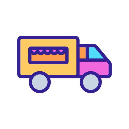 Food truck Icon vector. Thin line sign. Isolated contour symbol illustration Illusztráció