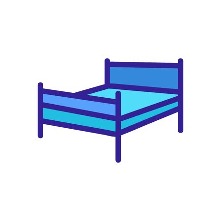 Modern bed icon vector. Thin line sign. Isolated contour symbol illustration