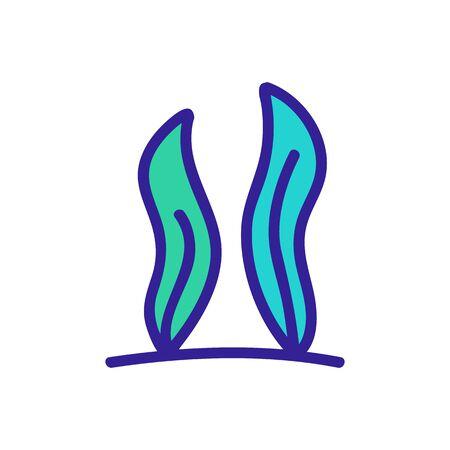 Aquarium icon vector. Thin line sign. Isolated contour symbol illustration