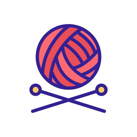 Knitting icon vector. Thin line sign. Isolated contour symbol illustration