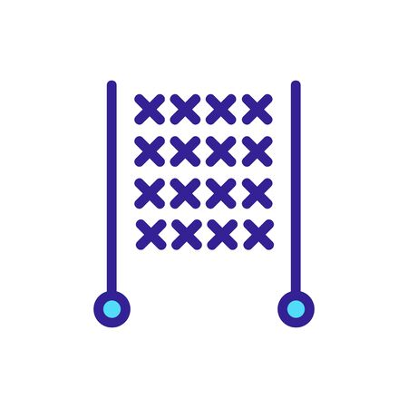Yarn icon vector. Thin line sign. Isolated contour symbol illustration