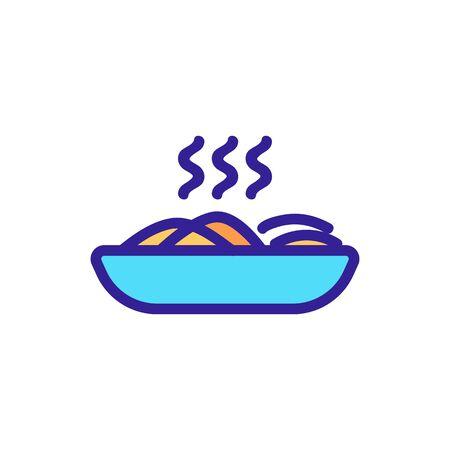 pasta icon vector. Thin line sign. Isolated contour symbol illustration