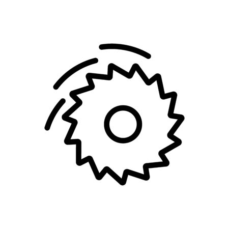 saw a circular disc icon vector. saw a circular disc sign. isolated contour symbol illustration