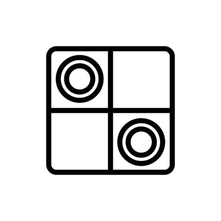 game checkers icon vector. game checkers sign. isolated contour symbol illustration