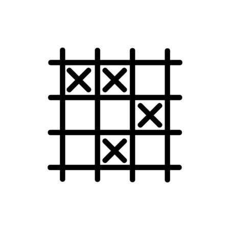 game TIC TAC toe icon vector. game TIC TAC toe sign. isolated contour symbol illustration