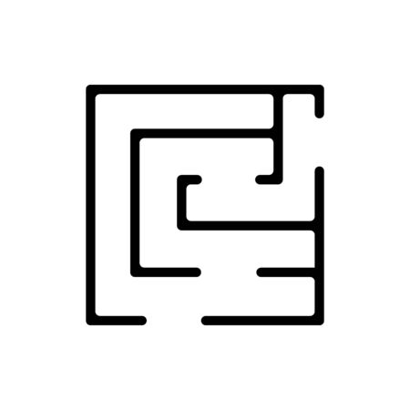 maze game icon vector. maze game sign. isolated contour symbol illustration