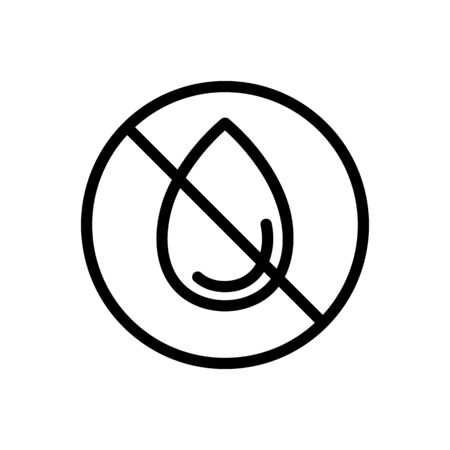 no humidity icon vector. no humidity sign. isolated contour symbol illustration