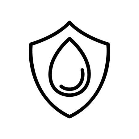 drop shield icon vector. drop shield sign. isolated contour symbol illustration