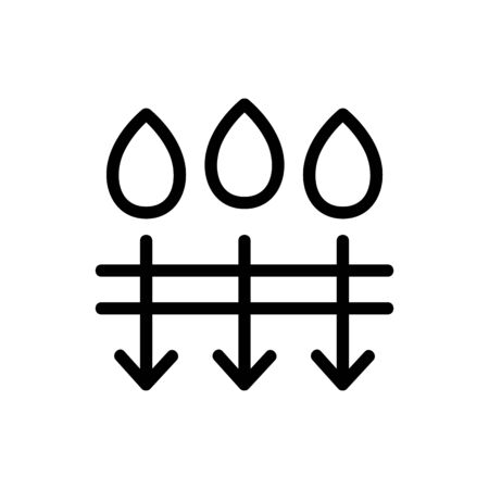 the penetration of moisture icon vector. the penetration of moisture sign. isolated contour symbol illustration