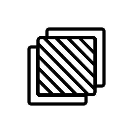 three layers icon vector. three layers sign. isolated contour symbol illustration