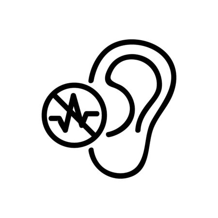 the ear does not hear icon vector. the ear does not hear sign. isolated contour symbol illustration