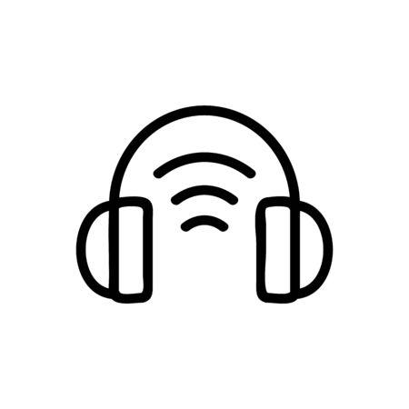 headphones sound icon vector. headphones sound sign. isolated contour symbol illustration