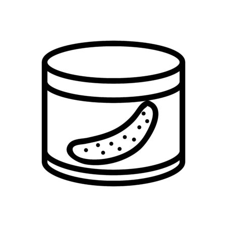 cucumber in the canned icon vector. cucumber in the canned sign. isolated contour symbol illustration