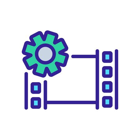 setup video icon vector. setup video sign. color isolated symbol illustration 版權商用圖片 - 143004317